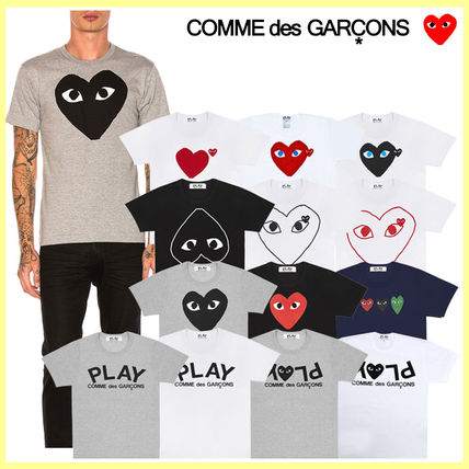 COMME des GARCONS Crew Neck Crew Neck Unisex Street Style Cotton Short Sleeves Logo