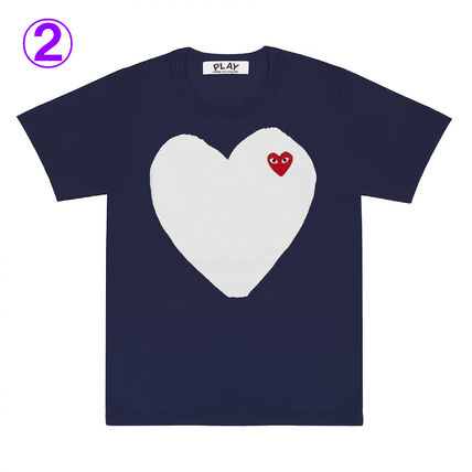 COMME des GARCONS Crew Neck Crew Neck Unisex Street Style Cotton Short Sleeves Logo 4