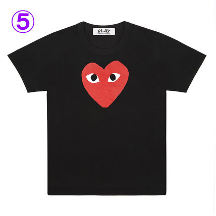 COMME des GARCONS Crew Neck Crew Neck Unisex Street Style Cotton Short Sleeves Logo 7