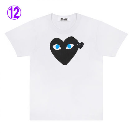 COMME des GARCONS Crew Neck Crew Neck Unisex Street Style Cotton Short Sleeves Logo 12
