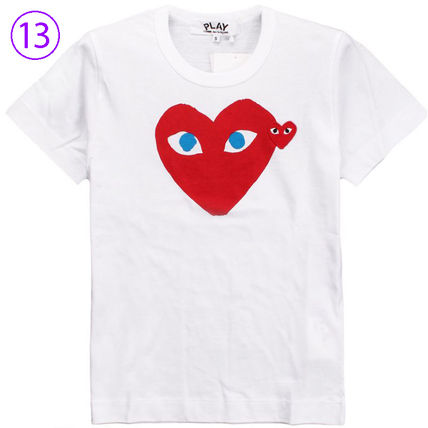 COMME des GARCONS Crew Neck Crew Neck Unisex Street Style Cotton Short Sleeves Logo 13