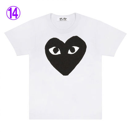 COMME des GARCONS Crew Neck Crew Neck Unisex Street Style Cotton Short Sleeves Logo 14