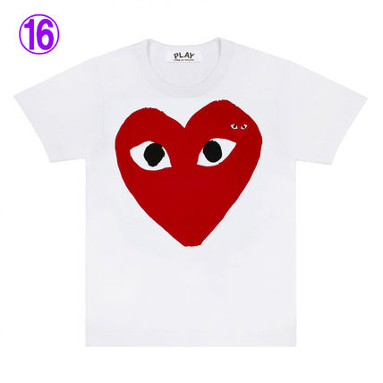 COMME des GARCONS Crew Neck Crew Neck Unisex Street Style Cotton Short Sleeves Logo 16