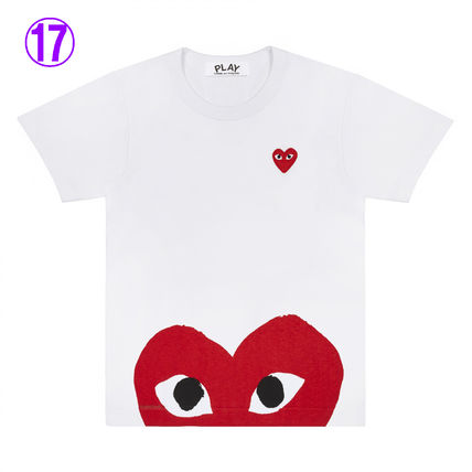 COMME des GARCONS Crew Neck Crew Neck Unisex Street Style Cotton Short Sleeves Logo 17