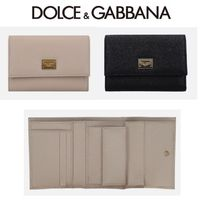 Dolce & Gabbana Calfskin Plain Folding Wallets