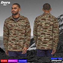 Patagonia Button-down Camouflage Long Sleeves Cotton Shirts
