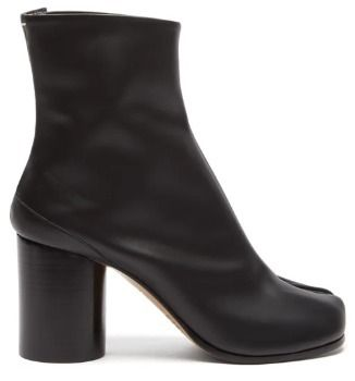 Maison Margiela Ankle & Booties Plain Leather Block Heels Ankle & Booties Boots 4