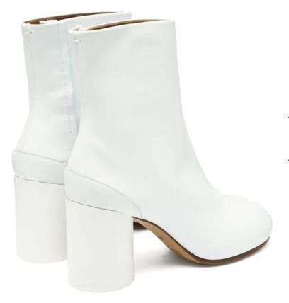Maison Margiela Ankle & Booties Plain Leather Block Heels Ankle & Booties Boots 8