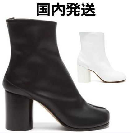 Maison Margiela Ankle & Booties Plain Leather Block Heels Ankle & Booties Boots 3