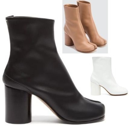 Maison Margiela Ankle & Booties Plain Leather Block Heels Ankle & Booties Boots 2