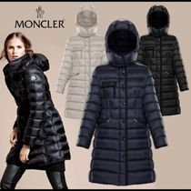 MONCLER HERMINE Nylon Plain Long Down Jackets