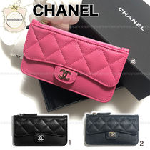 CHANEL TIMELESS CLASSICS Lambskin Card Holders