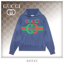 GUCCI Unisex Street Style Long Sleeves Cotton Oversized Hoodies