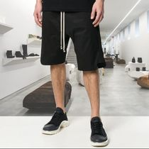RICK OWENS Plain Cotton Oversized Sarouel Shorts