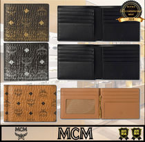 MCM Unisex Street Style Plain Folding Wallets