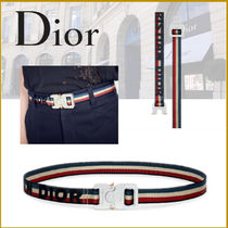 Christian Dior Street Style Cotton Belts