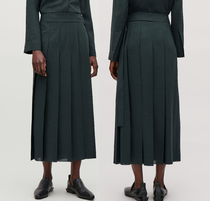 COS Casual Style Pleated Skirts Plain Long Maxi Skirts