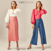 Cameo the Label Plain Cotton Puff Sleeves Shirts & Blouses