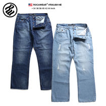 Roca Wear Unisex Street Style Plain Cotton Oversized Jeans & Denim