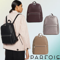 PARFOIS Casual Style Faux Fur Plain Bold Backpacks