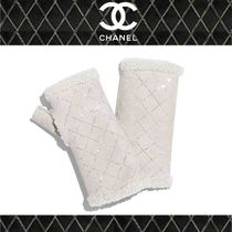 CHANEL Blended Fabrics Smartphone Use Gloves