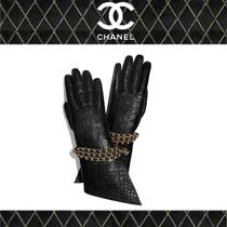 CHANEL Blended Fabrics Chain Plain Leather