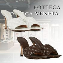 BOTTEGA VENETA Leather Elegant Style Heeled Sandals