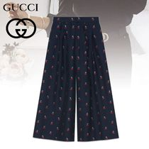 GUCCI Tropical Patterns Casual Style Wool Blended Fabrics Long