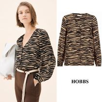 Hobbs London Casual Style Long Sleeves Other Animal Patterns Medium