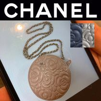 CHANEL ICON Flower Patterns Street Style 2WAY Chain Leather