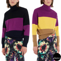 Dries Van Noten Pullovers Stripes Wool Long Sleeves Sweaters