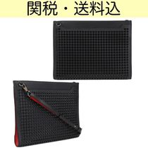 Christian Louboutin Studded Leather Clutches