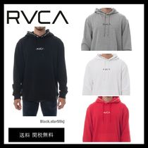 RVCA Unisex Street Style Long Sleeves Plain Logos on the Sleeves