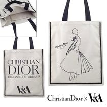 Christian Dior Casual Style Collaboration A4 Plain Totes