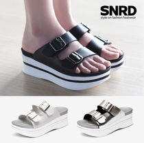 paperplanes Open Toe Platform Casual Style Street Style Plain Slippers