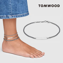 Tom Wood Casual Style Unisex Street Style Chain Silver Anklets