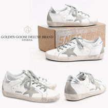 Golden Goose Casual Style Unisex Leather Low-Top Sneakers