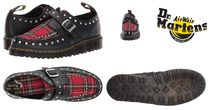 Dr Martens RAMSE Tartan Casual Style Street Style Leather Pin Heels Shoes