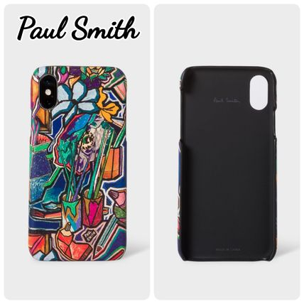 Paul Smith Smart Phone Cases Unisex Leather Smart Phone Cases