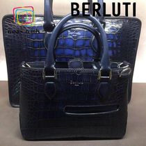 Berluti Other Animal Patterns Totes