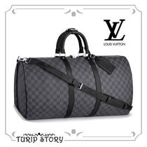 Louis Vuitton DAMIER GRAPHITE Street Style 1-3 Days Soft Type Carry-on