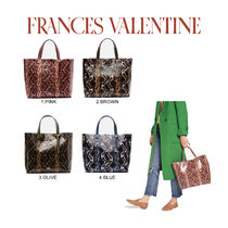 FRANCIS VALENTINE Casual Style Leather Totes