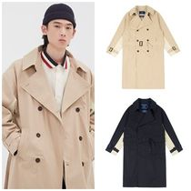 ROMANTIC CROWN Unisex Street Style Long Oversized Trench Coats