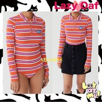 LAZY OAF Cable Knit Stripes Casual Style Knitwear
