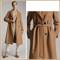 Massimo Dutti Wool Plain Long Office Style Coats