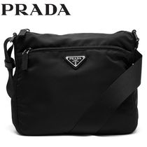 PRADA Nylon Plain Shoulder Bags
