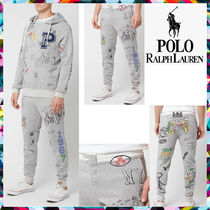 POLO RALPH LAUREN Printed Pants Street Style Cotton Patterned Pants