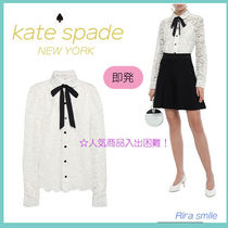 kate spade new york Lace-up Long Sleeves Medium Party Style Lace