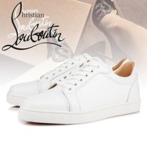 Christian Louboutin Rubber Sole Casual Style Street Style Plain Leather