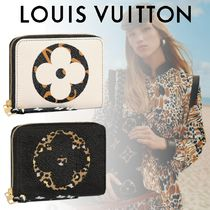 Louis Vuitton ZIPPY COIN PURSE Leopard Patterns Canvas Blended Fabrics Coin Purses